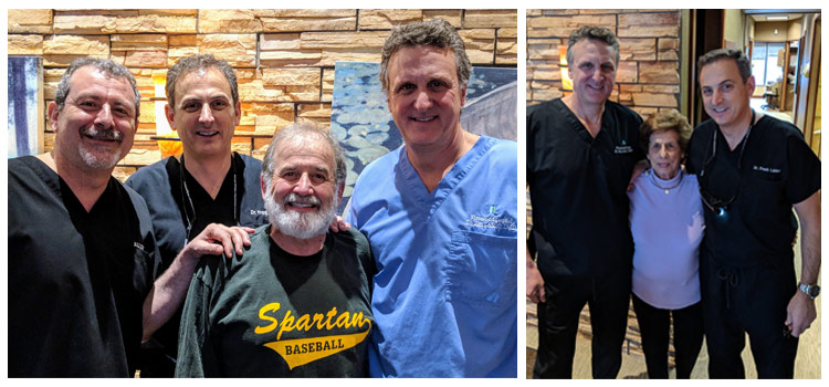 Dr. Frank, Dr. Jim, and Dr. Ali with happy patients!